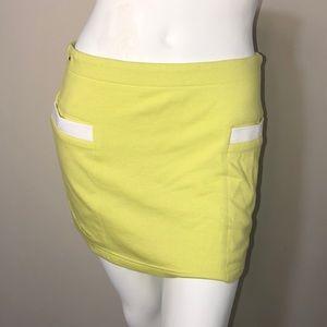 NWT Lacoste neon minI tennis  skirt size 38 6 Med